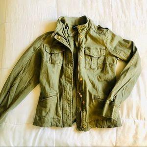 Olive Bomber Military Jacket